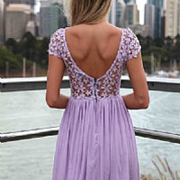SPLENDED ANGEL DRESS , DRESSES, TOPS, BOTTOMS, JACKETS & JUMPERS, ACCESSORIES, 50% OFF SALE, PRE ORDER, NEW ARRIVALS, PLAYSUIT, COLOUR, GIFT VOUCHER,,LACE,Purple,SHORT SLEEVE,MINI Australia, Queensland, Brisbane