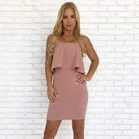 Kiss Goodnight Bodycon Dress in Mauve