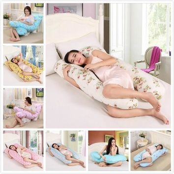 Multifunctional Maternity Comfortable Pregnant Pillow Pregnancy Maternity Pillow Removable U-Shaped Total Body Pillow 8 styles