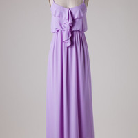 Ruffle Maxi Dress - Lavender