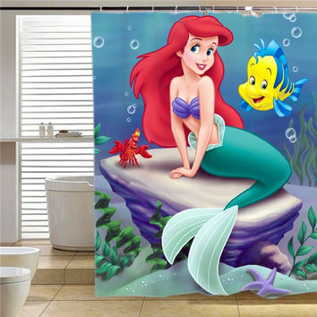 disney little mermaid shower curtain