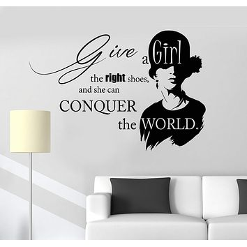 Vinyl Wall Decal Inspirational Quote Beauty Fashion Salon Girl Stickers Unique Gift (ig3923)