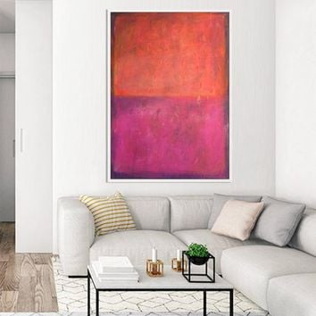 Orange Red Abstract Painting | Original Painting on Canvas Acrylic Oil Contemporary Extra Large Abstract Art | Wall Decor | Texture Painting
