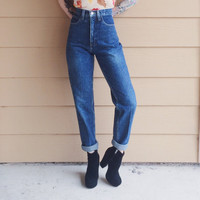 Vintage GUESS High Waisted Skinny Leg VTG Mom Jeans // Women's size XS Small S 25 0
