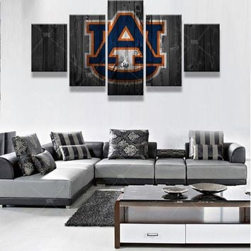 UA University of Auburn College Football Wall Art Picture Canvas Panel Print