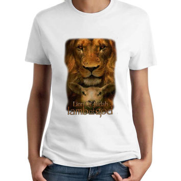Lamb Of God Lion Of Judah Women T-Shirt