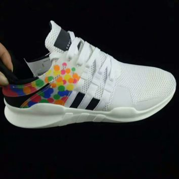 Adidas EQT Support Adv Prioe Fashion Casual Running Rainbow Color Sneakers Sport Shoes White G-CSXYQGCZDL-CY