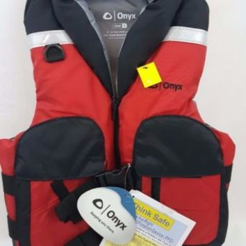 Onyx Adult Select Size Small Life Jacket Fishing Vest Type III USCG Approved