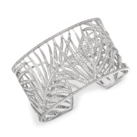 White Gold & Diamond Palm Cuff - Bracelets & Bangles - FINE JEWELLERY