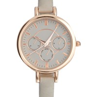 Mink Tonal Dial Chronograph Watch