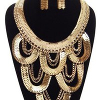 GOLD BODY JEWEL NECKLACE SET — Tanny's Couture LLC