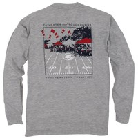 Tailgates and Touchdowns Tee: Merlot Long Sleeve