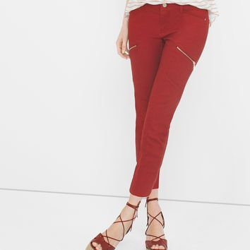 White House | Black Market Twill Skinny Crop Jeans