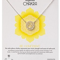 Dogeared Be Confident Chakra Necklace, 18""