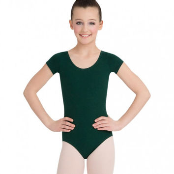 Child Short Sleeve Leotard (Hunter) CC400C