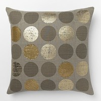 Metallic Circles Pillow Cover