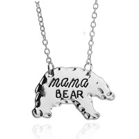 Mothers Day Gift MAMA Bear Alloy Necklace for Mum [10893371215]