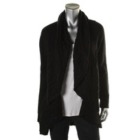 Style & Co. Womens Textured Open Front Cardigan Sweater