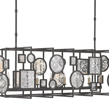 Currey Company Gallerist Rectangular Chandelier