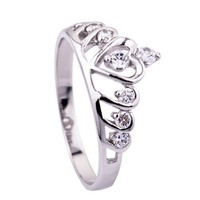 925 STERLING SILVER Ring fashion Crown Princess Queen girl valentine gift CVR0047 (5)