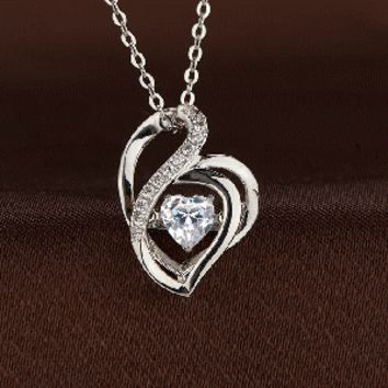 3-D heart shaped Swarovski Crystal Necklace