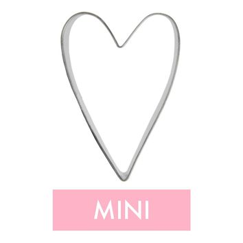 Mini Long Heart Cookie Cutter