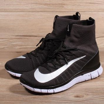 Nike Free Flyknit Mercurial Superfly Black White Running Shoes