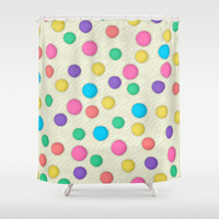 Polka Dots Wallpaper Background Shower Curtain by Tees2go