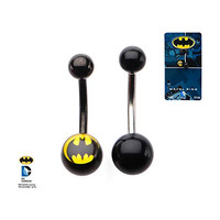 DC Comics Batman Belly Button Ring, Officially Licensed, 316L Surgical Grade Stainless Steel, 2PC Pack