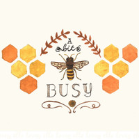 Busy Bee - 8x10 Art Print