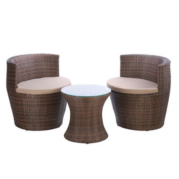 FAUX RATTAN PATIO SET