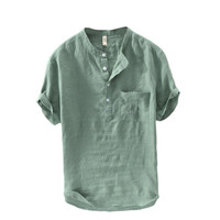 Chinese Style Buttons Design Short-sleeved Tops - Banggood Mobile