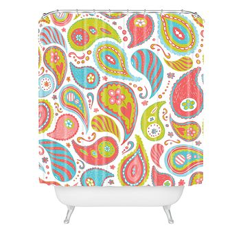 Heather Dutton Power Paisley Shower Curtain