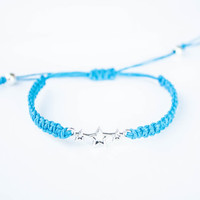 Stars Friendship Bracelet Blue Hemp Sky Star Jewelry