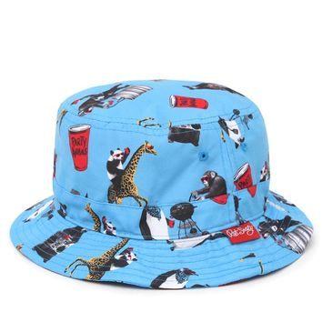 02213326a687b Riot Society Party Animal Bucket Hat - Mens Backpack - Blue - One
