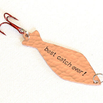 Fishing Lure with Best Catch Ever in Copper
