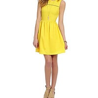 GB Ladder Trim Dress - Yellow