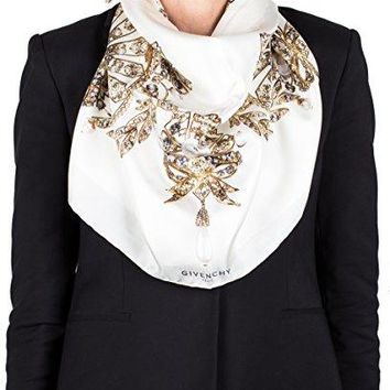 Givenchy Women's Jeweled Pattern Silk Scarf