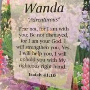 Girl Daydream Scripture Name Cards that begin with W (Wanda - Whitney)