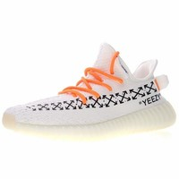"OFF white x Adidas Yeezy 350V2 Boost Running Shoes ""OW White"" Sneaker CP9654"