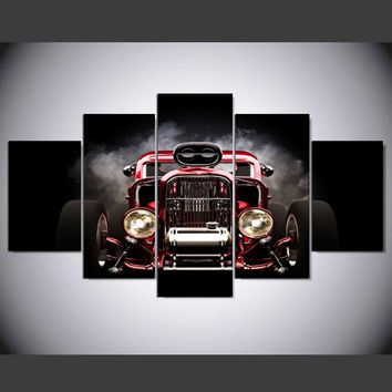 Street Rod 30's Couple Ford Blown Motor Wall Art Canvas Man Cave Picture