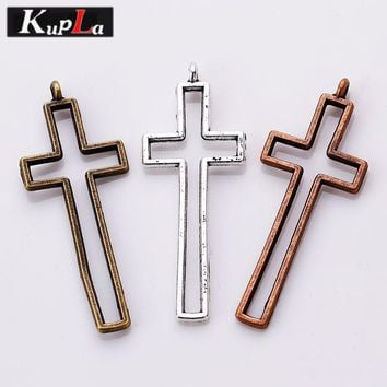 Kupla Vintage Metal Religious Cross Charms DIY Accessories Crosses Pendant Charms for Jewelry Making 30Pieces/lot C5272