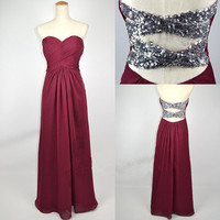 Cheap New Style 2013 Strapless Sweetheart with Beading Chiffon Prom Dresses from 2013 New Dresses