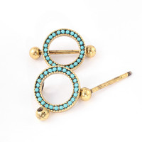 1Pair Sexy Lady Jewelry Nipple Shield Body Jewelry Piercing Ring Antique Gold Plated New Design Unique Nipple Piercing Ring