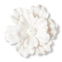 Threshold™ Ceramic Flower Wall Sculpture - White