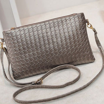 Women's Vintage Woven Knitted Clutch Bags Evening Pochette Ladies Shoulder Messenge Hand Bag  Bolsa Feminina sac a main femme