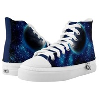 Blue Planet High Top Shoes Printed Shoes