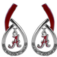 University of Alabama Crimson Tide Tear Drop Earrings