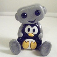 Robot & His Penguin Buddy