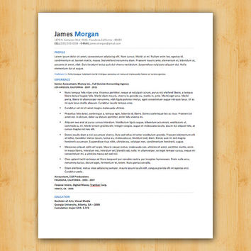 Easy to Edit Resume Template - The Morgan Design - Helping You Save Time & Get The Dream Job You Deserve - Instant Download